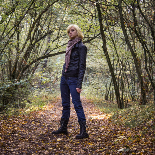 Cecilie in the Forest 030